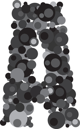 d i y: alphabet bubbles letter A illustration
