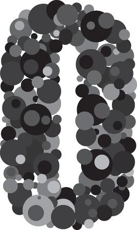 alphabet bubbles letter O illustration