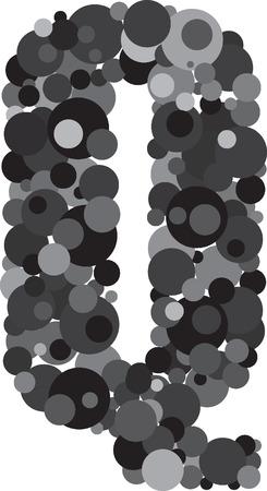 s c u b a: alphabet bubbles letter Q illustration Illustration