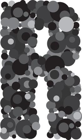 s m: alphabet bubbles letter R illustration Illustration