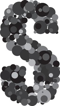 alphabet bubbles letter S illustration