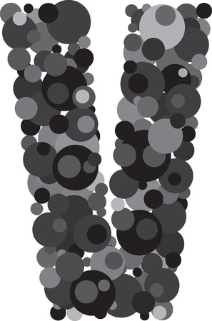 u  k: alphabet bubbles letter V illustration