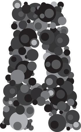 alphabet bubbles letter A illustration