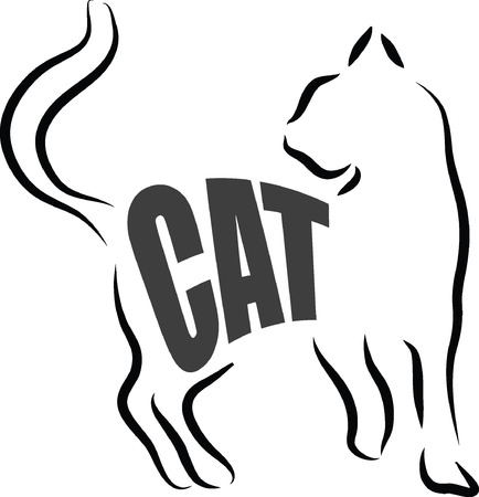 CAT ILLUSTRATION LETTERING