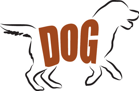 DOG LETTERING ILLUSTRATION