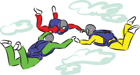 exciting: SKY DIVING ILLUSTRATION