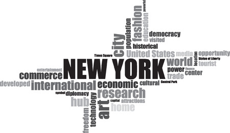 new york city times square: new York EEUU lettering illustration