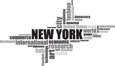 central park: nueva York EEUU ilustraci�n letras