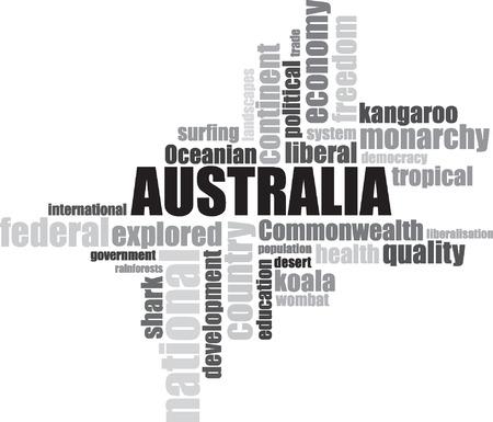 Sydney Australia lettering illustration  イラスト・ベクター素材