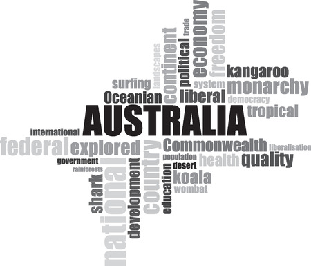 sydney australia: Sydney Australia lettering illustration Illustration