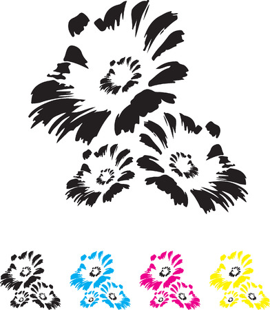 flowers illustration and lettering B