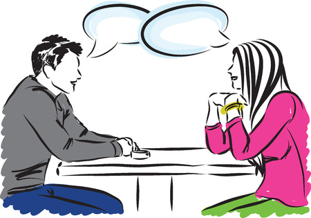 couple illustration b conversation