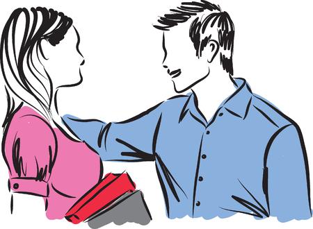 free stock photos: couple illustration