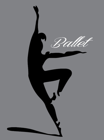 vector images: ballet dancer silhouette Illustration