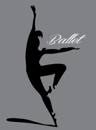 Balletdanser silhouet Stockfoto - 49616178