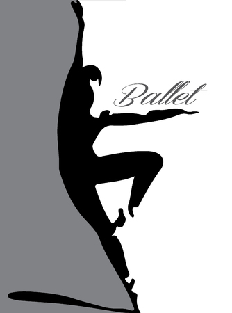 stock photographs: ballet dancer silhouette Illustration