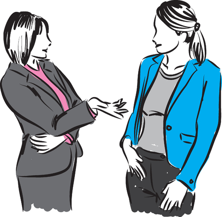 meet: business women conversation Illustration
