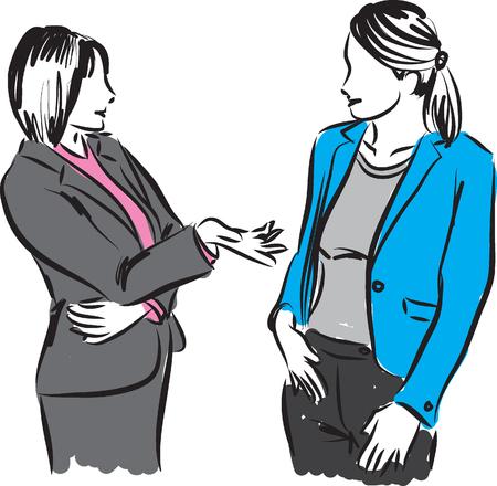 zakenvrouwen gesprek Stock Illustratie