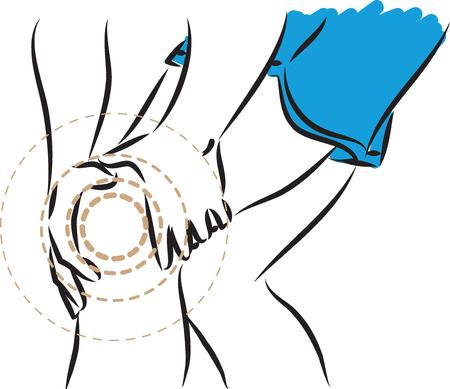 dolor en la ilustración de la pierna Ilustración de vector
