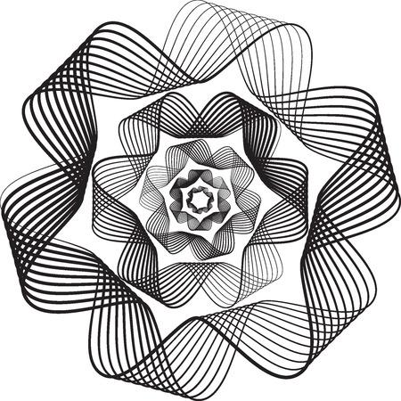 free vector art: wave illustration BRUSHES BLACK AND WHITE Illustration