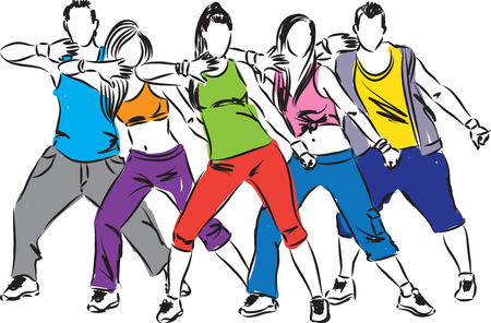 8 991 line dance stock vector illustration and royalty free line rh 123rf com dance team clip art pictures dance drill team clipart