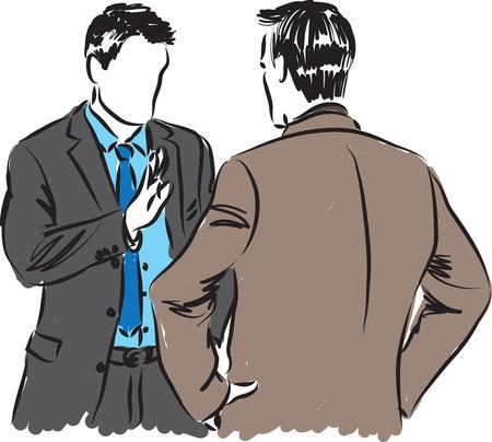 men talking: business men talking illustration