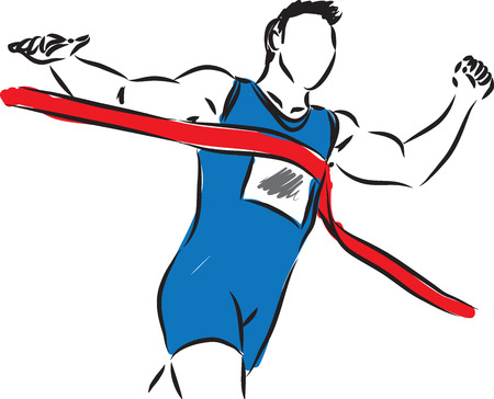 runners: RUNNER AT THE FINISH LINE illustration