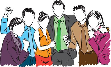 ビジネス人々 の図  イラスト・ベクター素材