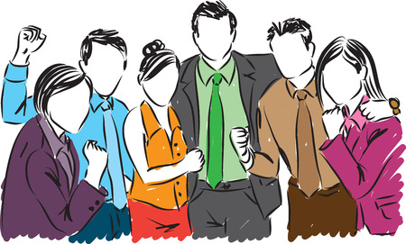 team mate: business people illustration