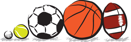 sports balls: sports balls illustration