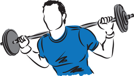 Fitness starker Mann Illustration