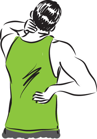 pain: man back pain illustration
