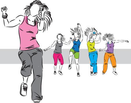 zumba 댄서 그룹 그림 E