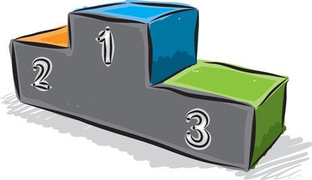 ilustración campeón del podio