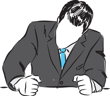anger: angry businessman illustration