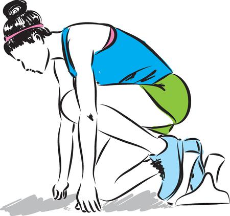 pictures: Runner starting race illustration Illustration