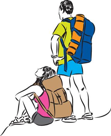 tourists illustration