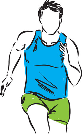 runner illustration Ilustracja