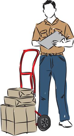 delivery man illustration Illustration