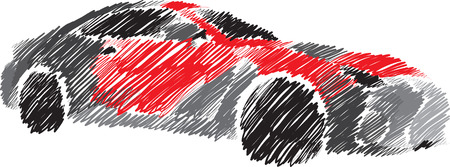 crowded street: car brush texture illustration