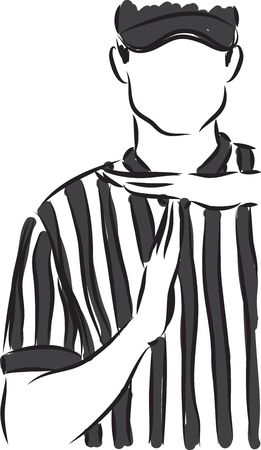 time out gesture coach illustration  イラスト・ベクター素材