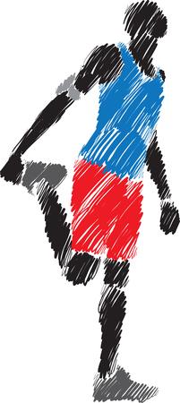 man stretching brush illustration