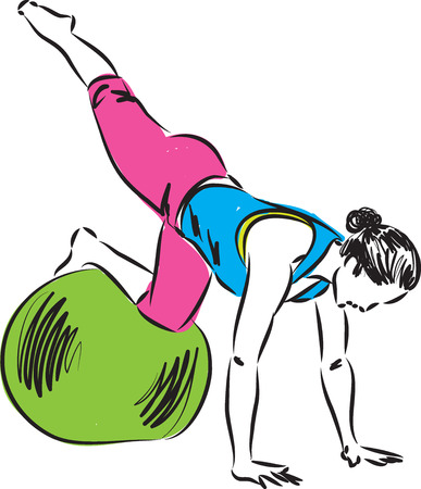 flexible girl: fitness illustration 1