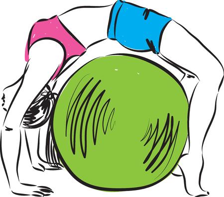 fitness illustration 3 Illustration