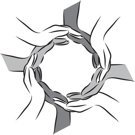 gray: hands illustration GRAY Illustration