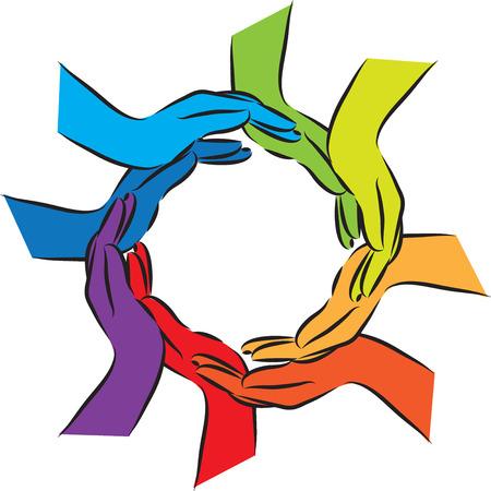hands illustration Иллюстрация