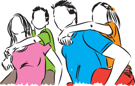 HAPPY FAMILY ILLUSTRATION Illustration