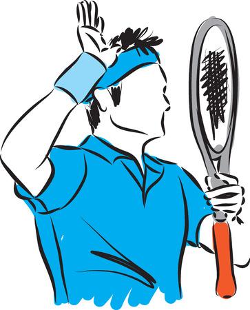 tennisser illustratie