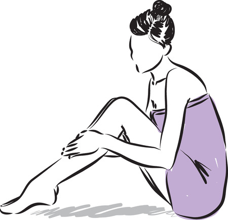 serene people: woman skin care illustration