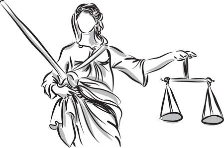 lady justice sculpture illustration